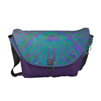 Chic Abstract Art Scroll Design Messenger Bag