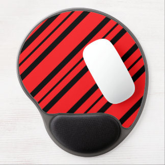 """""""Chic Accents"""" Red & Black Mousepad Gel Mouse Pad"""