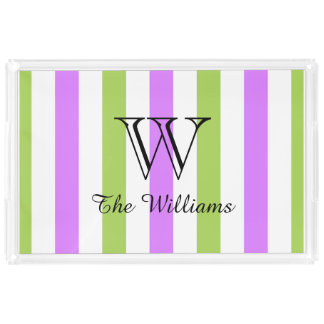 CHIC ACRYLIC SERVING TRAY_LOVELY LILAC/GREEN