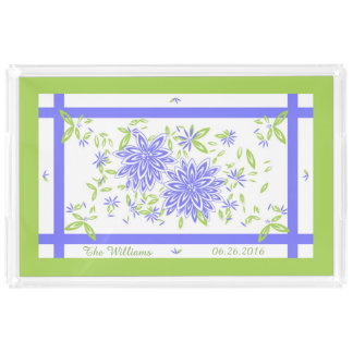 CHIC ACRYLIC SERVING TRAY_LOVELY PERIWINKLE/GREEN