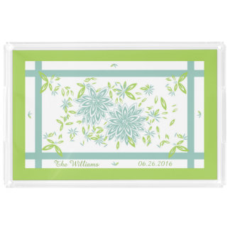 CHIC ACRYLIC SERVING TRAY_LOVELY SEAFOAM/GREEN