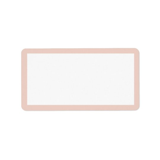 CHIC ADDRESS LABEL_PALE DOGWOOD PINK  AND  WHITE LABEL
