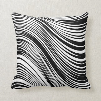 Chic African Inspired Black and White Zebra Print Cushion