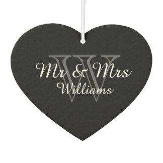 "CHIC AIR FRESHENER_""Mr & Mrs"" GRAY/BLACK/WHITE"
