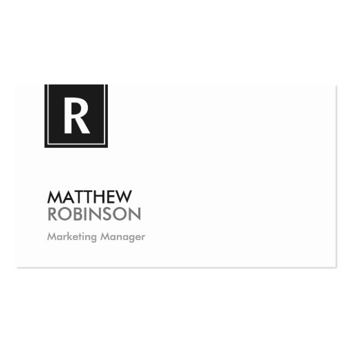 Premium monogram business card templates chic and clean black white monogrammed business card colourmoves