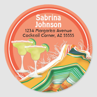 Chic and Contemporary Margarita Address Label