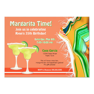 Chic and Contemporary Margarita Party 13 Cm X 18 Cm Invitation Card