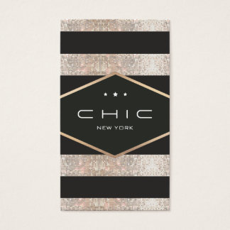 Chic and Elegant Black and Silver Sequins Striped