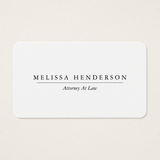 Chic and Elegant Minimalist Business Card