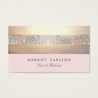 Chic and Elegant Sequin Gold Light Pink Striped