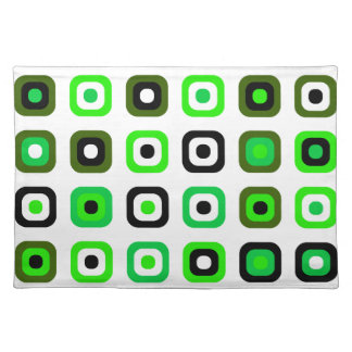 Chic and Fun! Decorative Retro Green Placemats