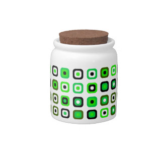 Chic and Fun Green Retro Candy Jar