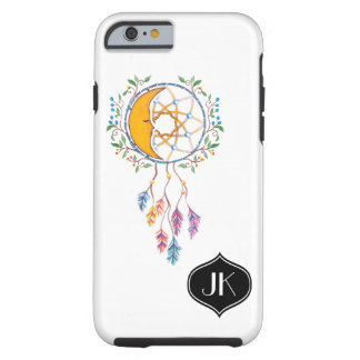 Chic and Girly Bohemian Dreamcatcher Monogram Tough iPhone 6 Case