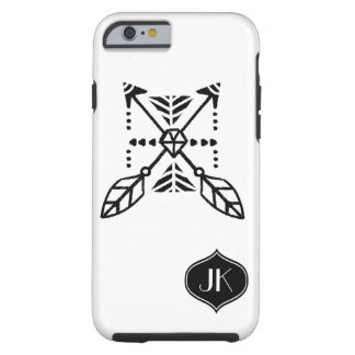 Chic and Girly Bohemian Monogram Tough iPhone 6 Case