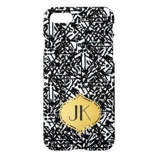 Chic and Modern Bohemian Monogram iPhone 7 Case