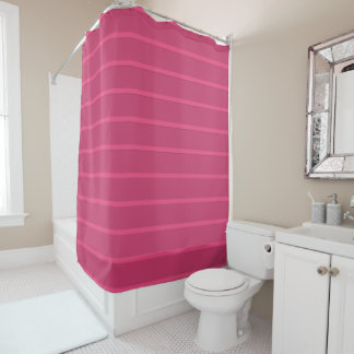 Chic and Modern Pink Striped Shower Curtain