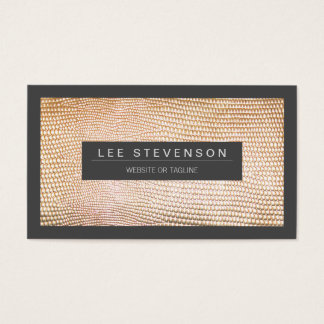 Chic and Stylish Gold Snake Skin Pattern Business Card