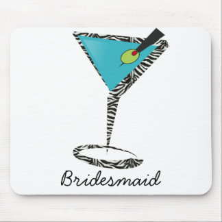 chic aqua martini mouse pad