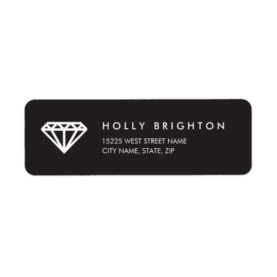 Chic Art Deco Diamond Return Address Labels