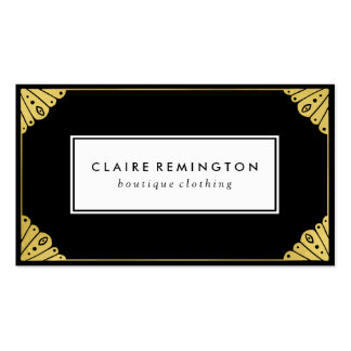 Chic Art Deco | Faux Gold Foil Pack Of Standard Business Cards