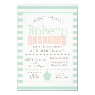 Chic Bakery Birthday Party Invitation