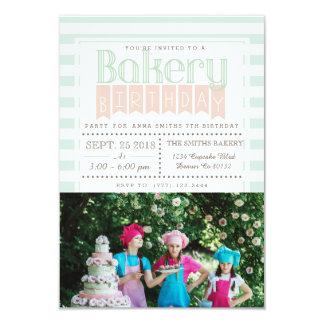 Chic Bakery Birthday | Photo Invitation