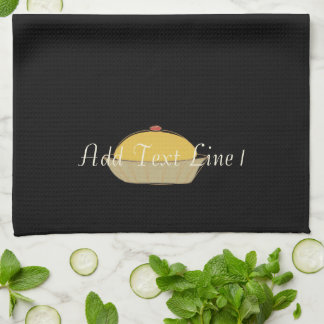 Chic Baking Cake Personalized Black  Towel