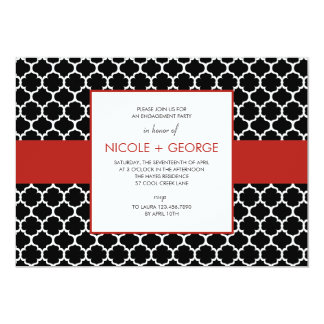 Chic Band General Party Invitation (Ruby)
