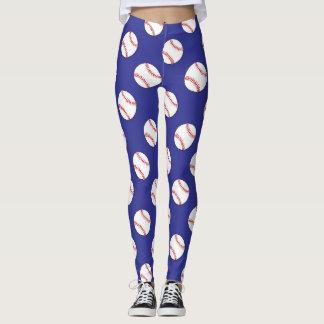 Chic Baseball Patterned Leggings