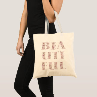 Chic Beautiful Typography Tote Bag