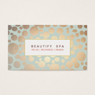 Chic Beauty Salon and Spa FAUX Gold Pattern Business Card