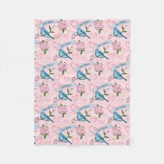 Chic Birds n Roses Blanket