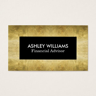 Chic Black And Gold | Business Cards