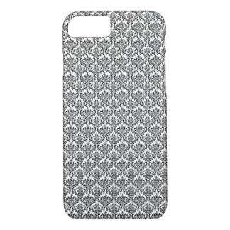Chic black and white baroque pattern iPhone 7 case