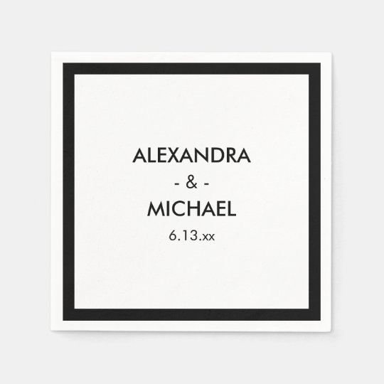 Chic Black and White French Inspired Wedding Disposable