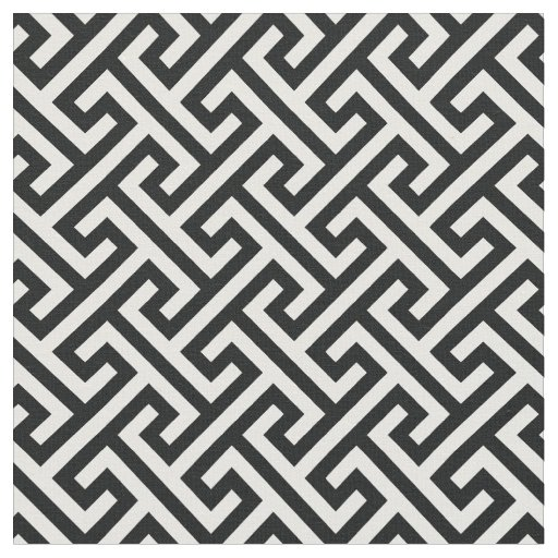 Chic black and white greek key geometric pattern