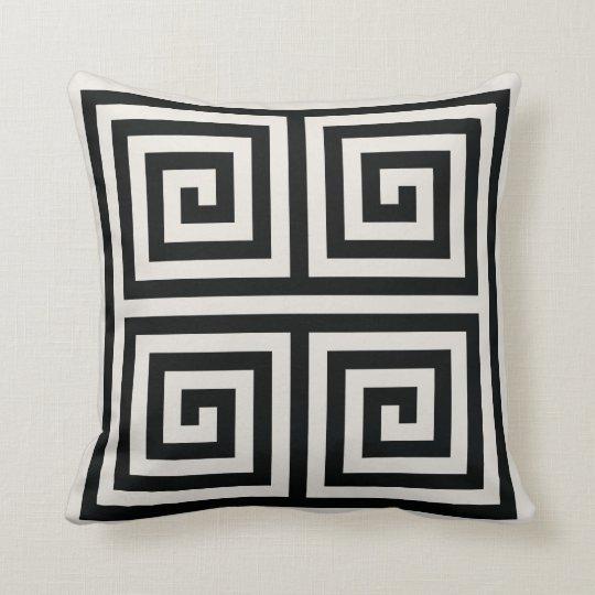 Chic black and white greek key geometric patterns