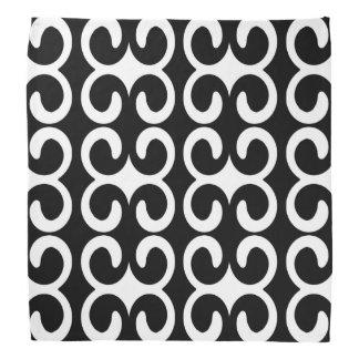 Chic Black and White Pattern Bandana