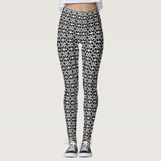 Chic Black and White Pattern Leggings