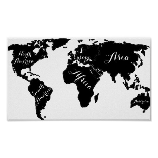 Chic black and white world map globe hipster print zazzle chic black and white world map globe hipster print gumiabroncs Gallery