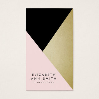 Chic Black & Gold Abstract Business Card Pack