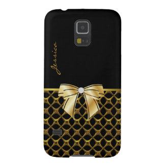 Chic Black & Gold Tone Samsung Galaxy Nexus Case
