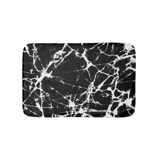 Chic Black Marble Texture White Grain Accent Bath