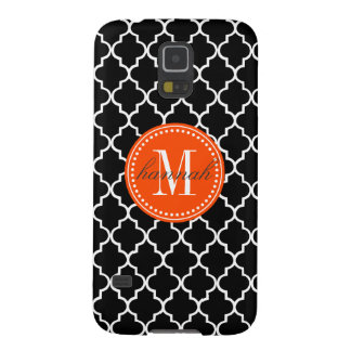 Chic Black Moroccan Lattice Personalized Galaxy S5 Cover