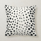 Chic black white cheetah print pattern monogram cushion
