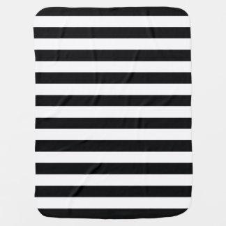 Chic Black & White Stripes Baby Blanket