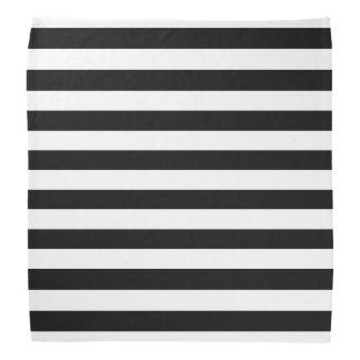 Chic Black & White Stripes Bandannas