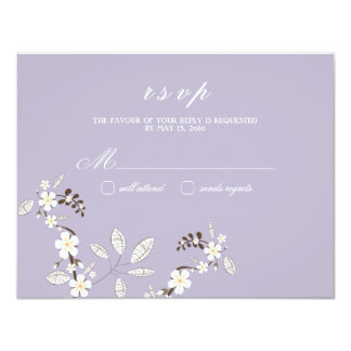 Chic Blossoms RSVP Cards {Lilac} Personalized Invites