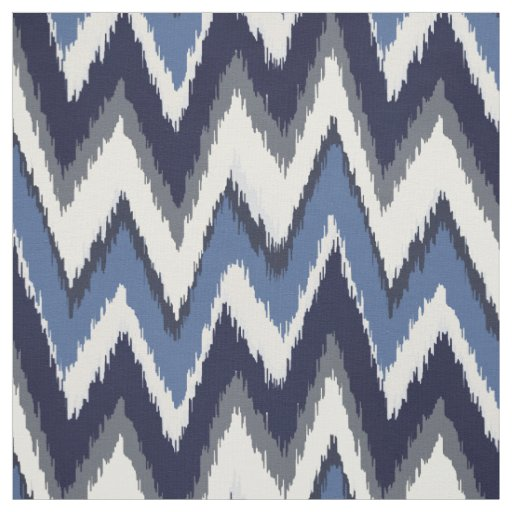 Chic blue and white ikat tribal chevron pattern