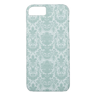 Chic blue baroque pattern iPhone 7 case